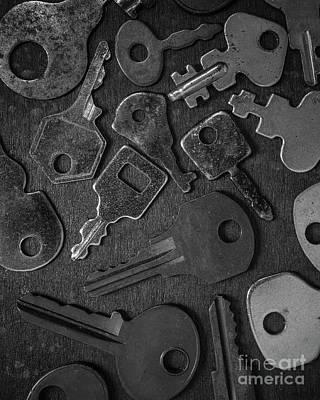 Photograph - Old Keys by Edward Fielding