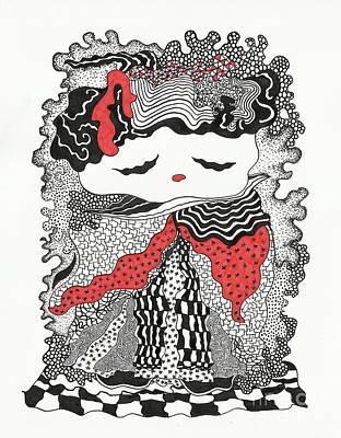 Old Lady Print by Fla Arakaki