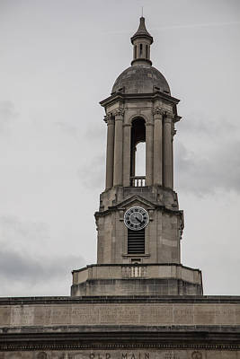 Penn State University Photograph - Old Main From Front Clock by John McGraw