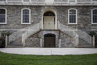 Penn State University Photograph - Old Main Penn State Stairs  by John McGraw