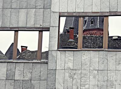 Contemporary Abstract Photograph - Old Mainz Trapped In Modern Mainz by Sarah Loft