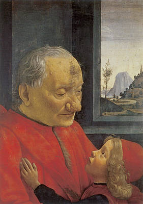 Old Man And Young Boy Print by Domenico Ghirlandaio