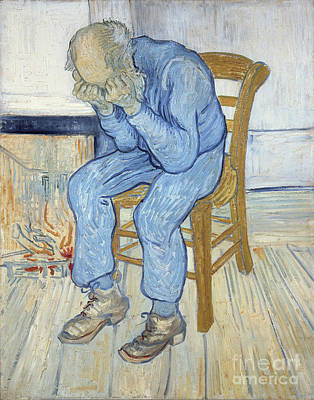 Crying Painting - Old Man In Sorrow by Vincent van Gogh