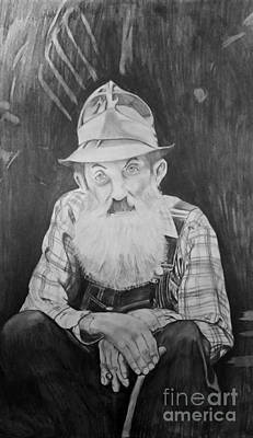 Sutton Drawing - Popcorn Sutton by Justin Arnold