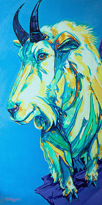 Mountain Goat Painting - Old Man Of The Mountain by Derrick Higgins