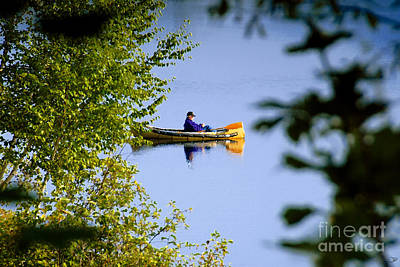 Old Man On The Lake Print by David Lee Thompson