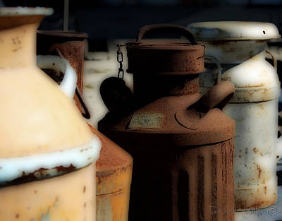Old Milk Cans Print by Danielle Miller