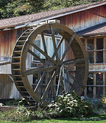 Old Mill Store Entry To Caverns Print by DigiArt Diaries by Vicky B Fuller