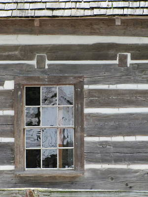 Cabin Window Photograph - Old Mission Reflections by Kelly Mezzapelle
