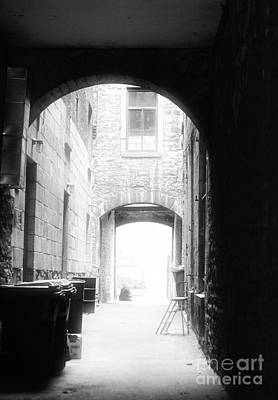 Old Montreal Alley Print by John Rizzuto