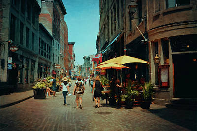 Quebec Streets Photograph - Old Montreal - Quebec by Maria Angelica Maira