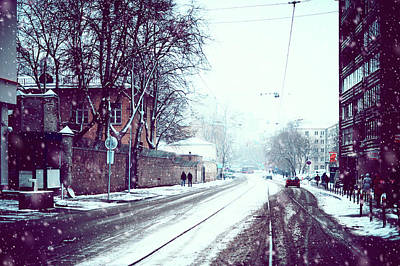Photograph - Old Moscow Street. Snowy Days In Moscow by Jenny Rainbow