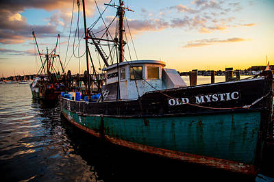 Old Mystic At Dock Print by Karol Livote