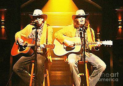 Neil Young Digital Art - Old Neil And Young Neil Together by John Malone