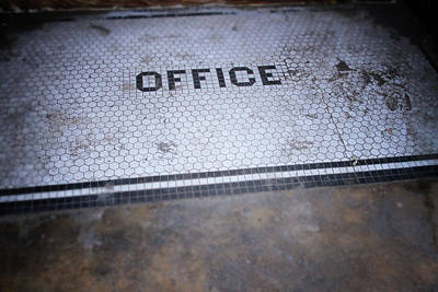 Street Art Photograph - Old Office- Urban Photography By Linda Woods by Linda Woods