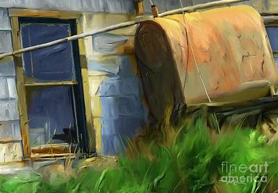 old oil tank P.E.I. Print by Bob Salo