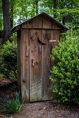 Antique Outhouse Photograph - Old Outhouse by Paul Freidlund