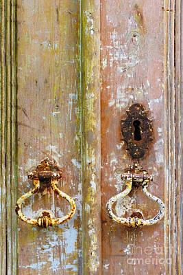 Old Peeling Door Print by Carlos Caetano