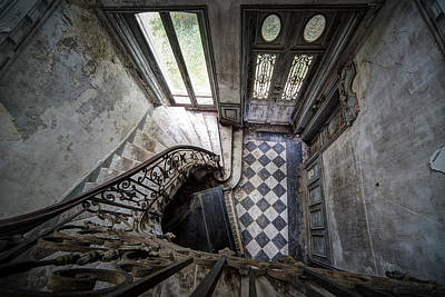 Old Piano In Deserted Castle - Architectual Heritage Print by Dirk Ercken
