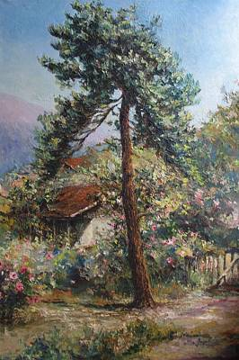 Flowers Painting - Old Pine Tree by Tigran Ghulyan