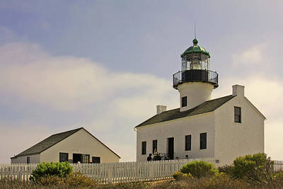 Old Point Loma Lighthouse - Cabrillo National Monument San Diego Ca Print by Christine Till