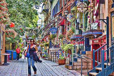 Quebec Streets Photograph - Old Quebec City by David Smith