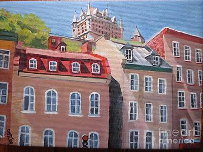 Painting - Old Quebec City by Stella Sherman