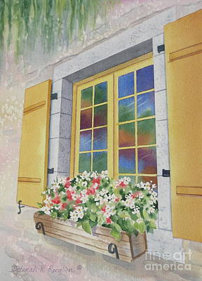 Old Quebec Window Print by Deborah Ronglien