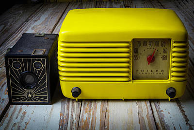 Old Radio And Camera Print by Garry Gay