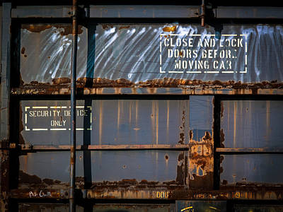 Photograph - Old Railroad Boxcar  by Bob Orsillo