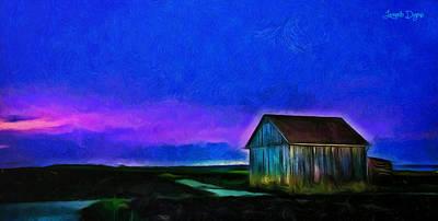 Shed Digital Art - Old Ranch - Da by Leonardo Digenio