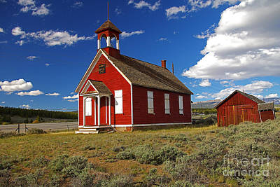 Photograph - Old Red Church by Rich Walter