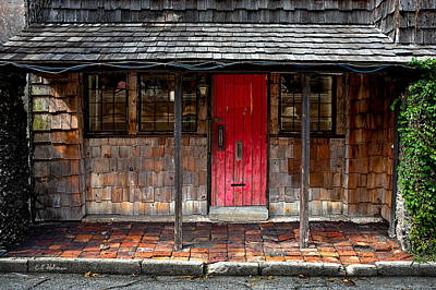 Old Red Door Print by Christopher Holmes