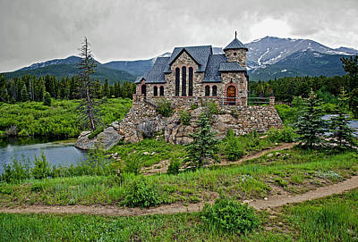 Old Rock Church On A Cloudy Day Original by James Steele