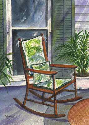 Rocking Chairs Painting - Old Rocker by Marsha Elliott