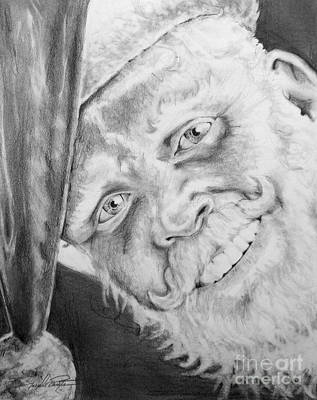 Drawing - Old Saint Nick  by Joseph Palotas