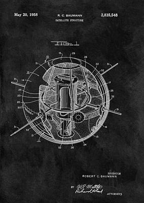 Navigation Mixed Media - Old Satellite Patent by Dan Sproul