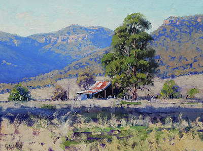 Barn Landscape Painting - Old Shed Hartley by Graham Gercken