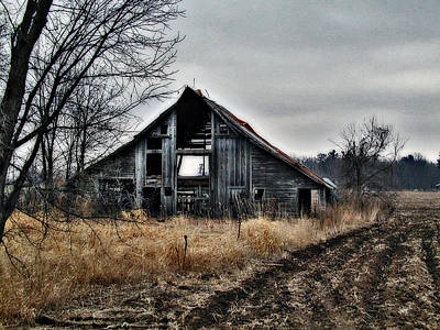 Old Shed Left By Itself Print by Laurie With