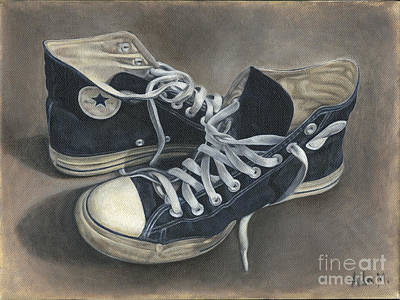Conversing Digital Art - Old Shoes by Ada Martinez