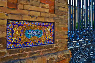 Ceramics Photograph - Old Sign Outside The Royal Tobacco by Panoramic Images