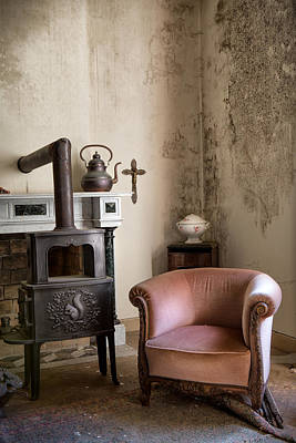 Abandoned Houses Photograph - Old Sofa Waiting - Abandoned House by Dirk Ercken