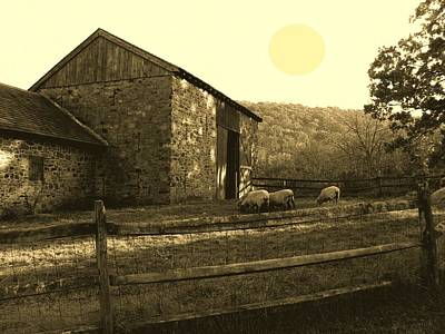 Stone Barn Photograph - Old Stone Barn by Val Arie