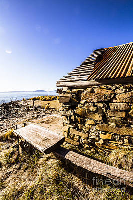 Old Stone Coastal Boat House Print by Jorgo Photography - Wall Art Gallery