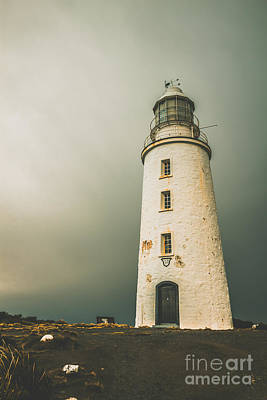 Grey Clouds Photograph - Old Style Australian Lighthouse by Jorgo Photography - Wall Art Gallery