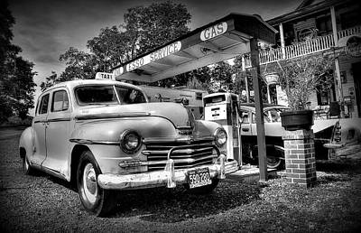 Esso Photograph - Old Taxi by Todd Hostetter
