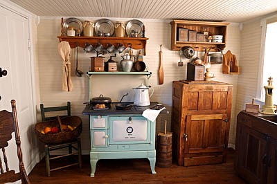 Crocks Photograph - Old Time Farmhouse Kitchen by Carmen Del Valle