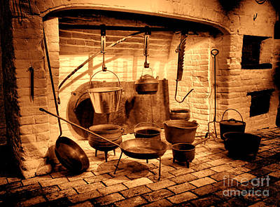 Old Time Kitchen Print by Olivier Le Queinec