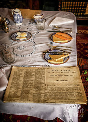 Table Cloth Photograph - Old Times by Adrian Evans