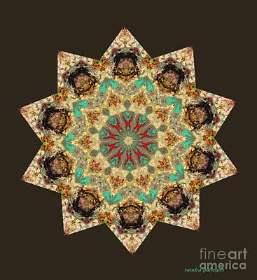 Tibetan Buddhism Mixed Media - Old Times by Sandra Gallegos